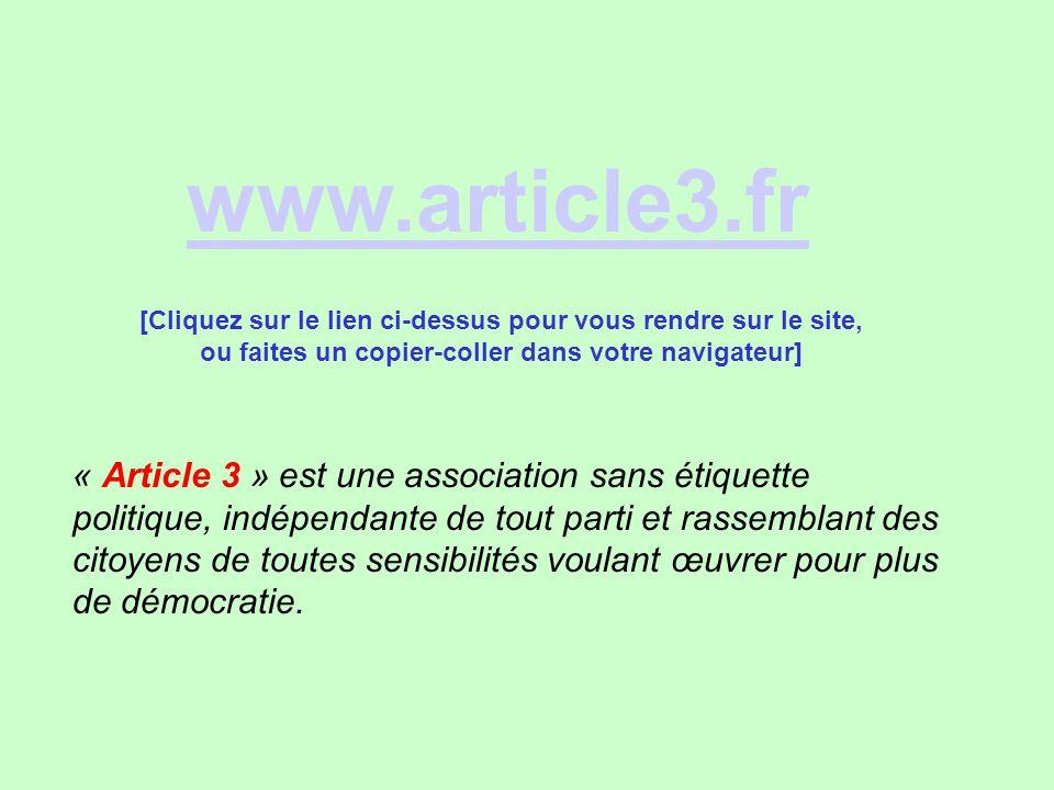 www.article3.fr [Cliquez sur le lien ci-dessus pour vous rendre sur le site, ou faites un copier-coller dans votre navigateur]